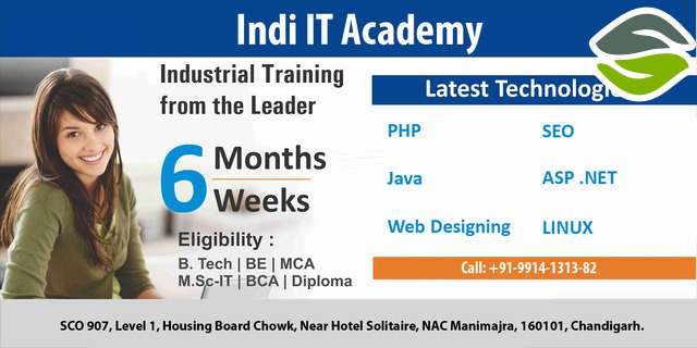 Join the industrial training in Chandigarh