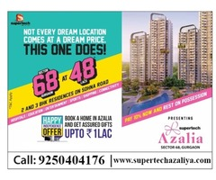 2 BHK Apartment @ 48 Lacs - Supertech Azalia | 9250404176