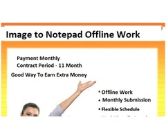 Work From Home : Image to Notepad Typing  with Refundable Security Deposit