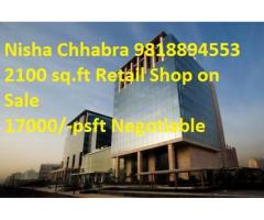 Nisha98l8894553 Global Foyer Mall Retail Shop in Resale Ground Floor